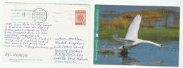 2012 BELARUS Stamps COVER (postcard SWAN Bird Birds)  To GB - Belarus