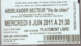Billets Du Festival Marrakech Du Rire. Neuf; Inutilisé. 2011. - Concert Tickets