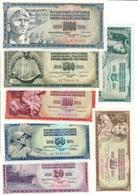 Yugoslavia Lot Set 7 Banknotes UNC .C2. - Jugoslavia
