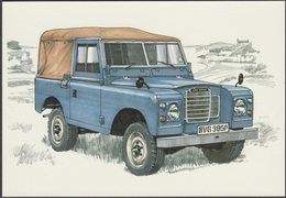 Land Rover Series III 88-Inch Pick-Up - Golden Era Postcard - Passenger Cars