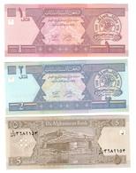 Afghanistan Lot Set 3 Banknotes UNC .C2. - Afghanistan
