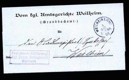 A5574) AD Bayern FdA-Brief Weilheim 3.8.08 - Bayern