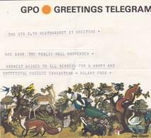 Télégramme Rare Circulé Avec Son Enveloppe Assortie D' Envoi, Multithèmes: Animaux, Flore, Un Petit Champignon,.... - Champignons