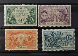 Exposition Paris 1931  //  N° 66 A 69 *  //  MH - Wallis-Et-Futuna