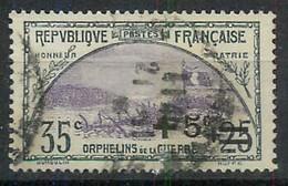 TIMBRE - 1922 Oblitéré Au Profit Des Orphelins De La Guerre N°166  - Catalogue Yvert & Tellier 2012 - Côte 16,50 Euros - France