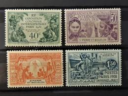 Exposition Paris 1931  //  N° 132 - 135 *  //  MH - St.Pierre Et Miquelon