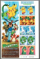 Nippon 2002 Animation Hero And Heroine Series N°  1 (Pokemon Monster) - Blocks & Sheetlets