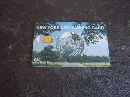 JOLIE CARTE A PUCE PARKING STATIONNEMENT NEW YORK GLOBE B.E !!! - Etats-Unis