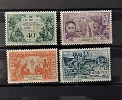 Exposition Paris 1931  //  N° 82 - 85 *  //  MH - Neufs