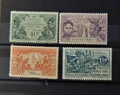 Exposition Paris 1931  //  N° 82 - 85 *  //  MH - Soudan (1894-1902)