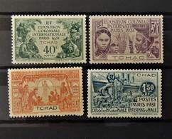 Exposition Paris 1931  //  N° 56 - 59 *  //  MH - Tchad (1922-1936)