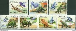 CUBA 1985, FAUNA, PREHISTORIC ANIMALS, COMPLETE MNH SET, GOOD QUALITY, *** - Unused Stamps