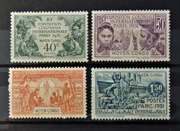 Exposition Paris 1931  //  N° 110 - 113 *  //  MH - Congo Français (1891-1960)