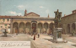 Italie - Firenze - Piazza Della S. S. Annunziata - Statue équestre - Artiste Gino Panerai - Firenze