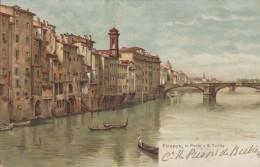 Italie - Firenze - Il Ponte A S. Trinita - Artiste Gino Panerai - Firenze