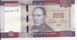LIBERIA 5 DOLLARS 2016 UNC P 31 - Liberia