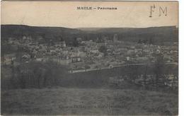 Maule Panorama Circulee En 1917 En Franchise Militaire - Maule