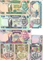 Zambia Lot Set 7 Banknotes UNC .C2. - Zambia