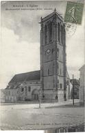 Maule L'eglise Monument Historique Circulee En 1918 - Maule