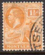 Montserrat GV 1922-9 1½d Orange-yellow, Wmk. Multiple Script CA, Used, SG 67 - Montserrat