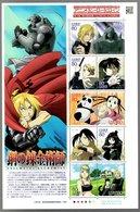 Nippon 2010 Animation Hero And Heroine Series N° 13 (Fullmetal Alchemist) - Blocks & Sheetlets