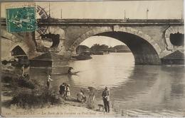 France 31 , Toulouse , Les Bords De La Garonne Au Pont Neuf , Circulee - Toulouse