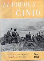 ESPERANTO) EL  POPOLO CINIO -RARE - SEPTEMBRE 1953  20 Pages Numérotées De 194 à 214 -papier Glacé - Libros, Revistas, Cómics