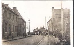 CARTE-PHOTO NORD ARLEUX WW1 Rue Du Nouveau Pont  Tramway à Vapeur Au Pont De La Redoute Pendant L'occupation Allemande - Francia