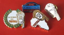 Pin's  Lot  Rallye Raid   91 Et 92 - Rallye