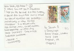 2011 INDONESIA COVER Stamps SCOUTS Scouting Postcard To GB - Indonesia