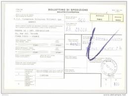 Bulletin D'Expédition - Italie- Cachets Et Vignette BUSALLA - 1981 - Timbres-Poste ITALIA - Tampon Fournisseur F.I.F. - 1946-.. République