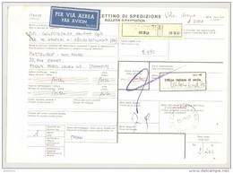 Bulletin D'Expédition - Italie- Cachets Et Vignette COTIGNOLA - 1981 -Vignette Ufficio Italiano Di Uscita - 1946-.. République