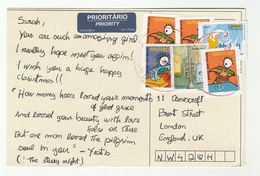 BRAZIL COVER Multi SAPATEIRO Stamps (postcard) To GB - Brazil