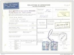 Bulletin D'Expédition - Italie- Cachets Et Vignette CANELI (Poste) - 1981 -Vignette Ufficio Italiano Di Uscita Et Par Av - 1946-.. République