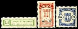 ITALY, Municipal Revenues, */** MLH/MNH, F/VF - 1900-44 Vittorio Emanuele III