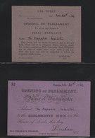 OPENING PARLIAMENT 1934 PALACE OF ESTMINSTER NEPAL 1934 - Tickets - Vouchers