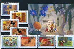 A26802)Disney: Mongolei 1636 - 1644** + Bl 103** - Disney