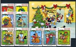 A26806)Disney: Redonda 138 - 146** + Bl 22** - Disney