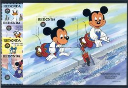 A26808)Disney: Redonda 215 - 218** + Bl 36** - Disney