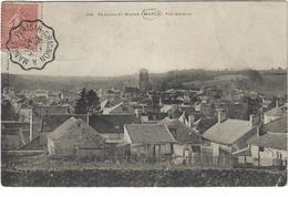 Environs De Mantes Maule Vue Generale Circulee En 1905 - Maule