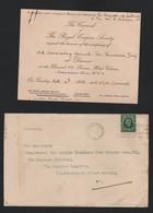 ROYAL EMPIRE SOCIETY COMMONWEALTH 1935 NEPAL INDIA LORD ZETLAND - Tickets - Vouchers