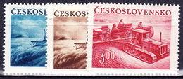 ** Tchécoslovaquie 1952 Mi 724-6 (Yv 633-5), (MNH) - Unused Stamps