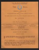 MRS BROOKE'S HORSE HOSPITAL CAIRO HORSESHOE BALL DORCHESTER DUKE OF GLO'S1935 - Toegangskaarten