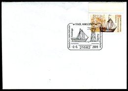 41123) BRD - Brief Mi 2558 - Motivgleicher SoST 21682 STADE, HANSESTADT Vom 02.05.2009 - Hansekogge, Feuerblüse - [7] West-Duitsland