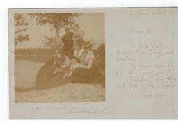 """Hoogboom 19 September 1901 :""""Aan Den Oever Van Een Snellen Vliet!"""" Fotokaart - Kapellen"""