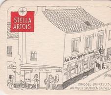 Sous Bock  Stella Artois   Oude Cafee's   - Brussel - Beer Mats