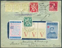 Lettre Affr. LEOPOLD 1Fr. Obl; C GENT Du 14-V-1945 Vers ROESELARE Puis Réexpédiée De ROULERS Le 20-9-1945 Vers Mont-Sain - Bélgica