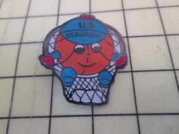 612a Pin's Pins : Rare Et Belle Qualité  SPORTS / BASKET BALL CLUB U.S. BEAUMONT - Basketball