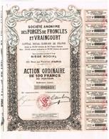 Ancienne Action - Sté Anonyme Des Forges De Froncles Et Vraincourt - Tite De 1927 - Industrie