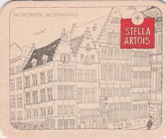 Sous Bock  Stella Artois   Oude Cafee's   - Antwerpen - Beer Mats
